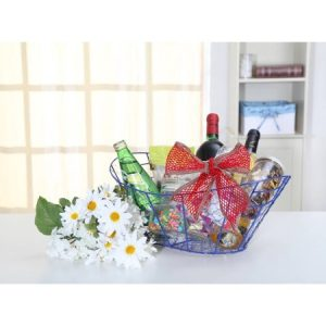 Walmart Blue Wire Mesh Basket