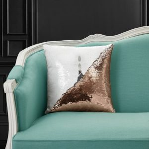 Mainstays Reversible Sequin Birthday Decorative Throw Pillow 17″ x17″, Cupcake, Multiple Colors