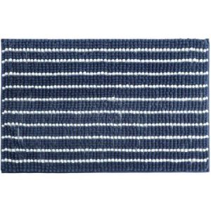 stylehouse WK681581 Multi Striped Textured Noodle Rug with Latex Backing,Navy,17″ X 24″