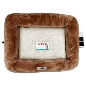 ASPCA Small Plush Crate Mat Pet Bed, 25″ X 20″, Taupe