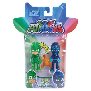 Just Play PJ Masks 2Pk Light up Figures Gekko & Ninja Toy Figure