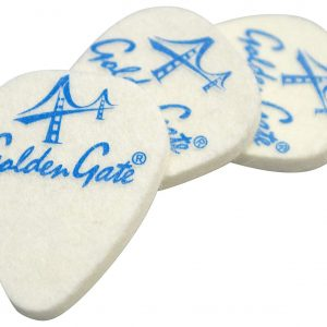 Golden Gate FP-1 Ukulele Felt Picks – 3 Pack