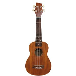 Sawtooth Mahogany Soprano Ukulele with Quick Start Guide Stand Gig Bag & Tuner