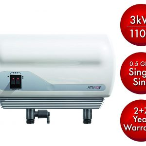 Atmor 3kw/110v Single Sink 0.5 GPM Point-of-Use Tankless Electric Instant Water Heater Including Pressure Relief Device and 0.5 GMP Sink Aerator AT-900-03