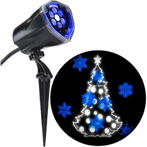 Walmart Lightshow Projection Plus-Whirl-a-Motion Static-Tree by Gemmy Industries