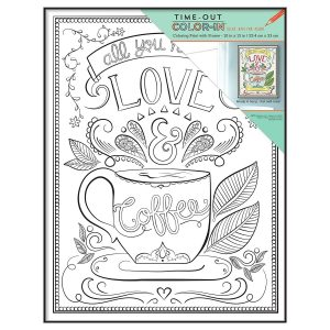 MCS Time-Out Color-in Framed Adult Coloring Page with Adventurer Sentiment, 10 by 13″