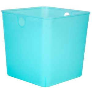 Walmart Hefty 11″x11″x11″ Full Plastic Bin, Pool Blue Tinted