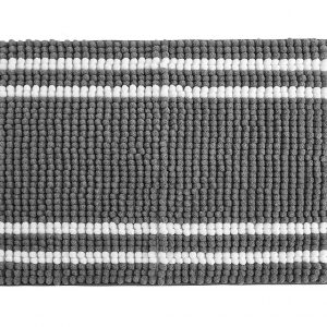 stylehouse WK681579 Striped Textured Noodle Rug with Latex BackingGrey17 X 24